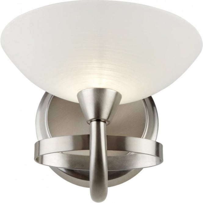 Endon CAGNEY-1WBSC Cagney 1 Light Wall Light Satin Chrome