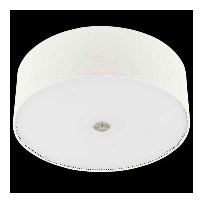 Eglo 91282 Kalunga 3 Light Ceiling Light Satin Nickel Linen Fabric