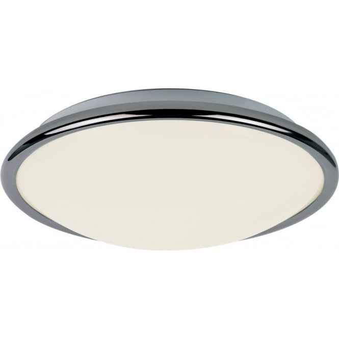 Endon EL-1725-BC 1 Light Low Energy Flush Ceiling Light Black Chrome