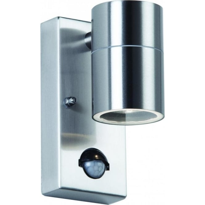 Endon el 40063 canon pir sensor garden wall light stainless steel el 40063 canon pir 1 light outdoor wall light stainless steel ip44 mozeypictures Image collections