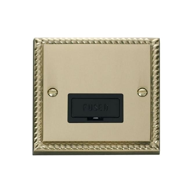 Click Deco Georgian Cast Brass GCBR650 13A Fused Connection Unit