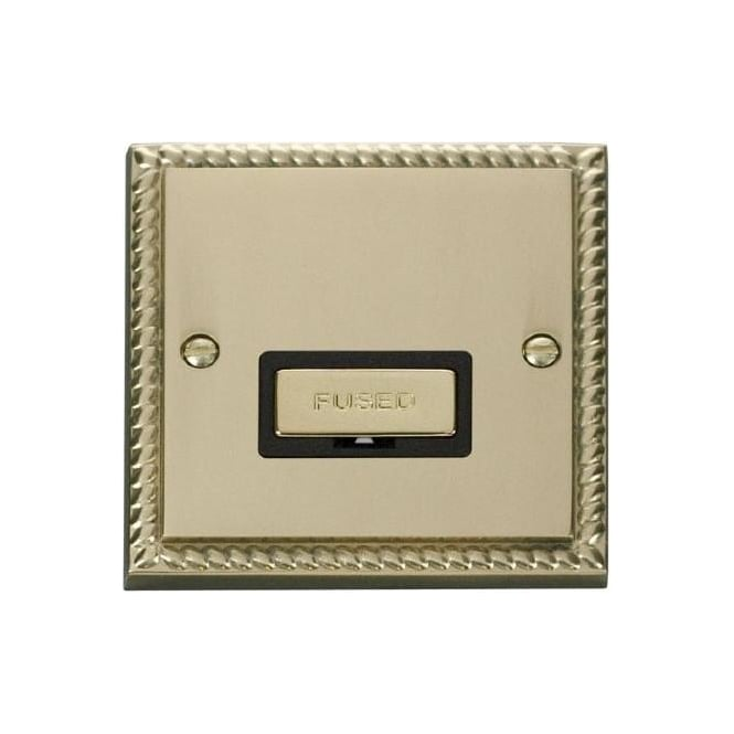 Click Deco Georgian Cast Brass GCBR750 13A Fused Ingot Connection Unit