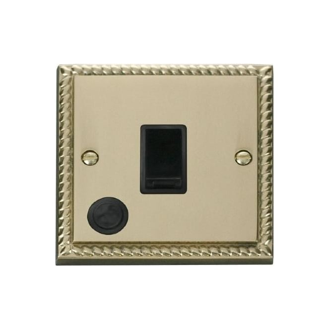 Click Deco Georgian Cast Brass GCBR022 20A DP Switch with Flex Outlet