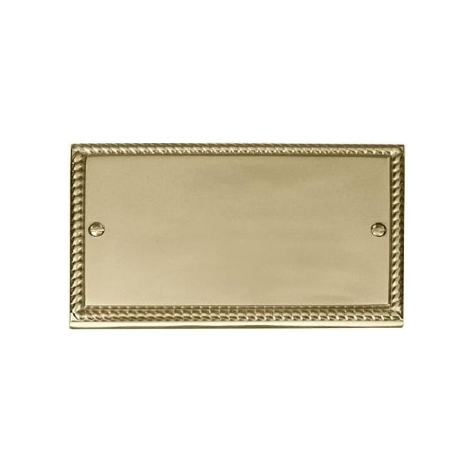Click Deco Georgian Cast Brass GCBR061 2 Gang Blank Plate