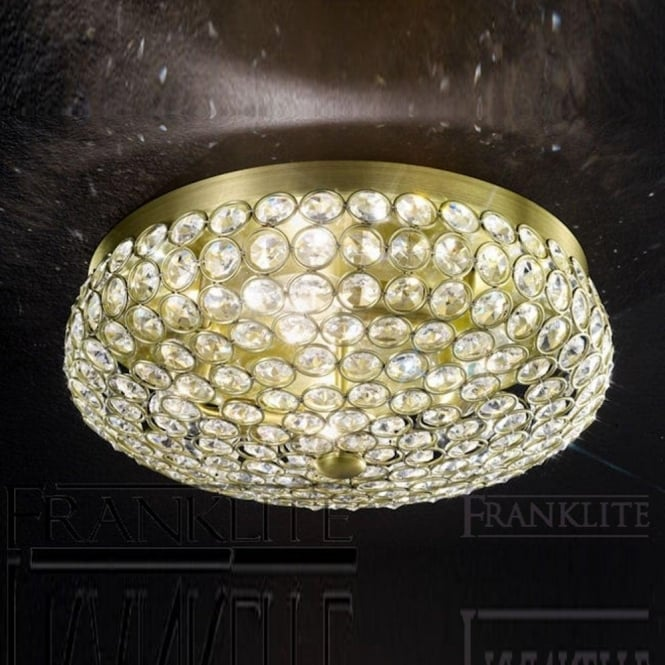 Marquesa fl22764 crystal 4 light flush ceiling light franklite fl22764 marquesa 4 light crystal flush ceiling light bronze aloadofball Gallery
