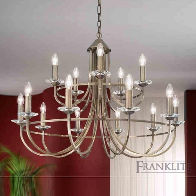 Franklite FL2147/15 Carousel 15 Light Ceiling Light Soft Bronze