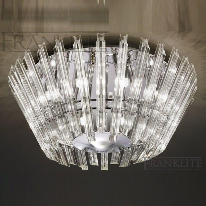 Franklite FL2231/8 Imagine 8 Light Crystal Ceiling Light Polished Chrome