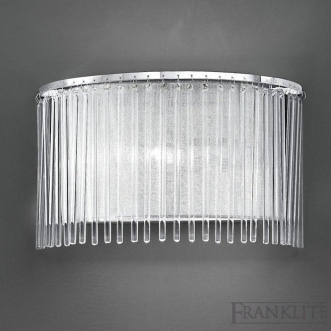 Franklite FL2190/1 Eros 1 Light Wall Light Polished Chrome