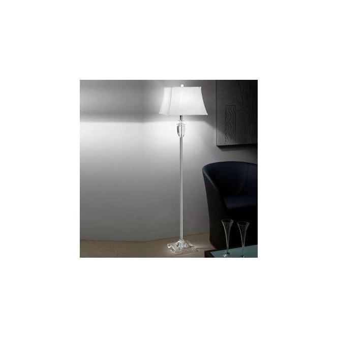 Franklite SL161/9869 Hugo Collection 1 Light Crystal Floor Lamp