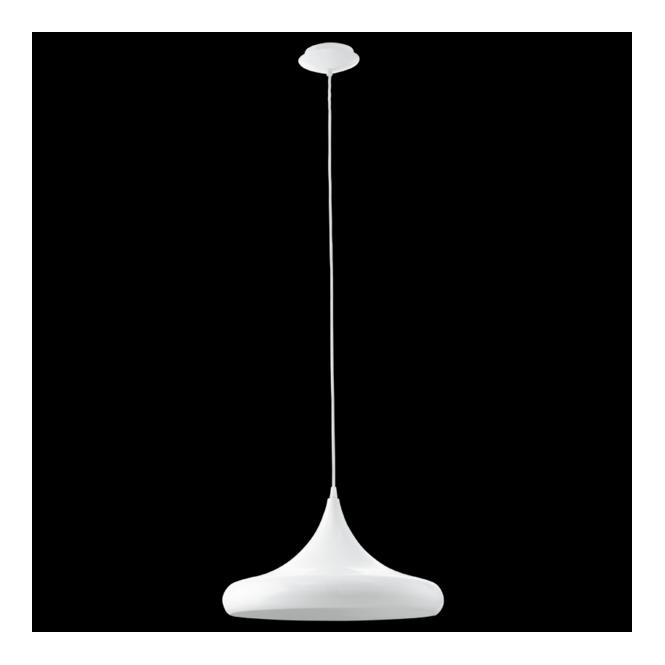 Eglo 92718 Coretto 1 Light Pendant White Steel