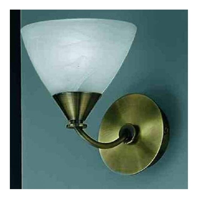 Franklite PE9661/786 Meridian 1 Light Wall Light Brushed Bronze