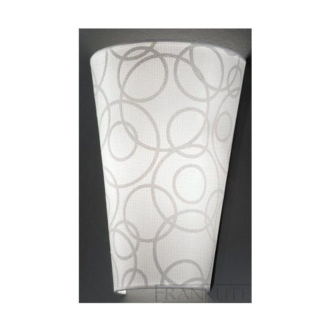 Franklite WB985/1138 WB985EL/1138 1 Light Wall Light Off-White Patterned Fabric