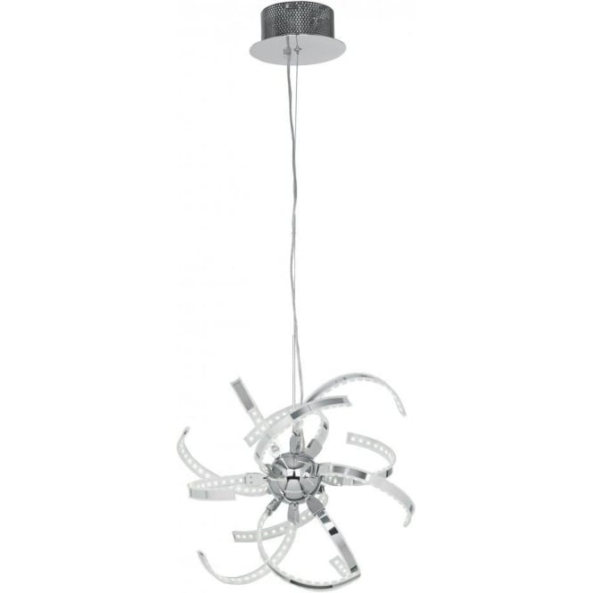 Endon PACINO-CH-S Pacino LED Ceiling Pendant Polished Chrome
