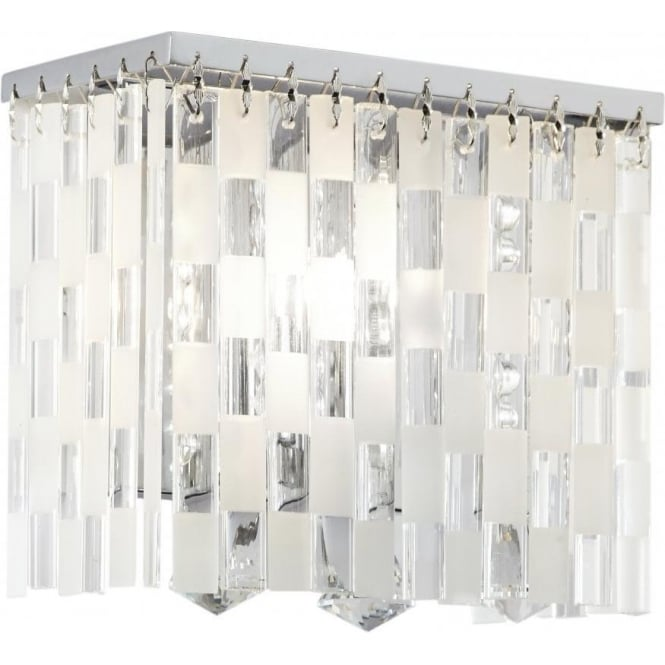 Endon SANTINI-1WB Santini 1 Light Crystal Wall Light Polished Chrome