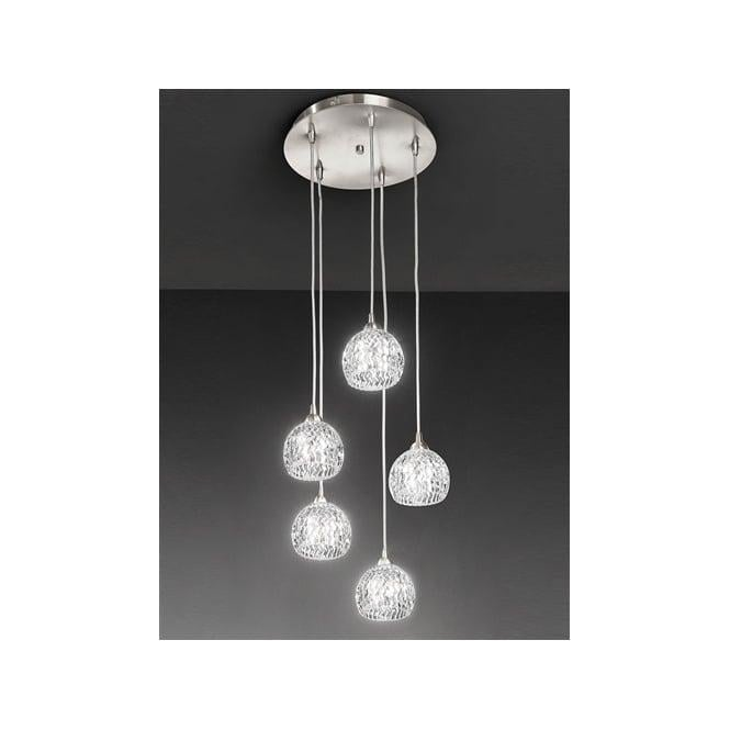 Tierney 5 light pendant satin nickel ceiling lighting fl23015 fl23015 tierney 5 light ceiling pendant satin nickel aloadofball Image collections