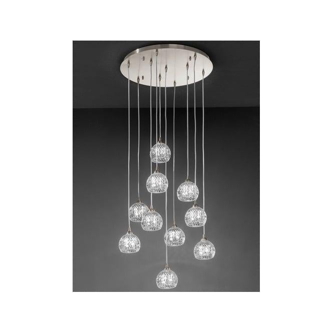 Tierney 10 light pendant satin nickel ceiling lighting fl230110 fl230110 tierney 10 light ceiling pendant satin nickel aloadofball Image collections