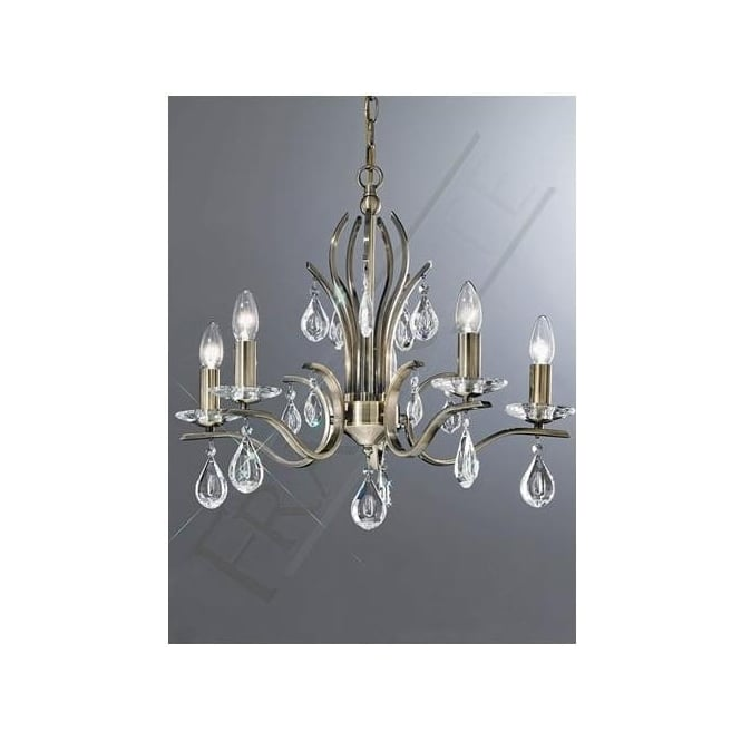 Franklite FL2299/5 Willow 5 Light Crystal Ceiling Light Bronze