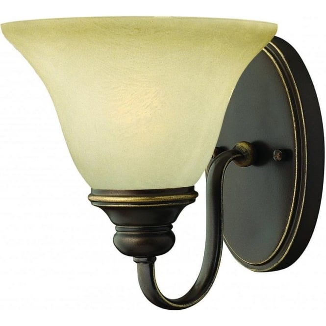Elstead Lighting Hinkley HK/CELLO1 Cello 1 Light Wall Light Antique Bronze