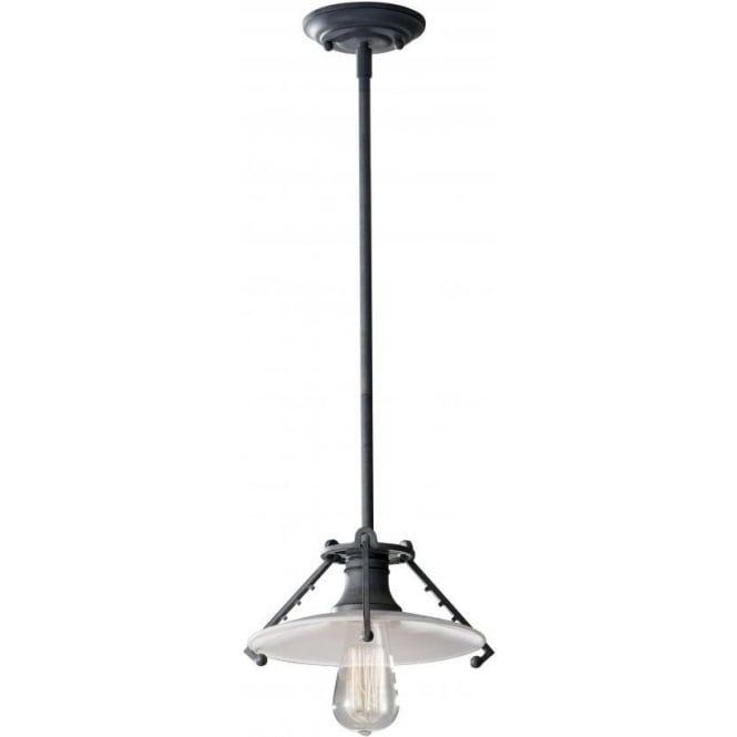 Elstead Lighting Feiss FE/URBANRWL/P/C Urban Renewal 1 Light Ceiling Pendant Weathered Zinc