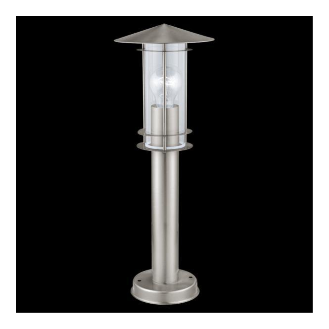 30187 post lamp eglo stainless steel 30187 1 light eglo lisio