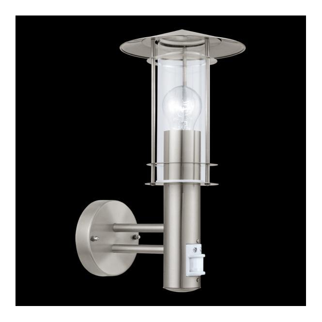 30185 Lisio 1 Light Outdoor Sensor Wall Light Stainless Steel IP44