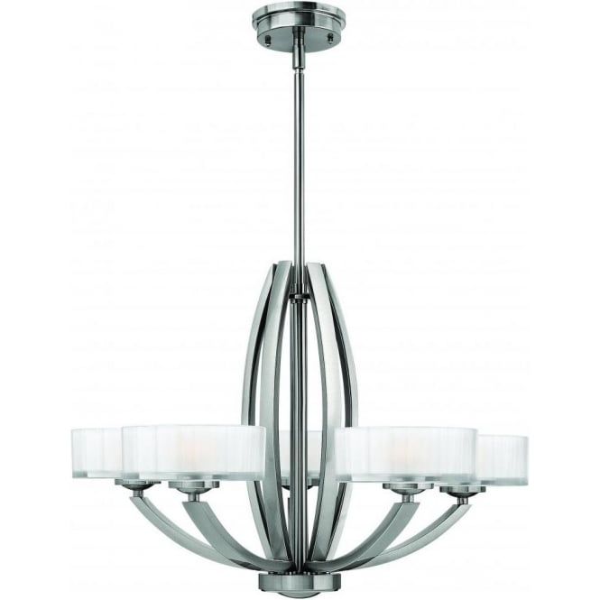 Elstead Hinkley HK/MERIDIAN5 Meridian 5 Light Ceiling Light Brushed Nickel