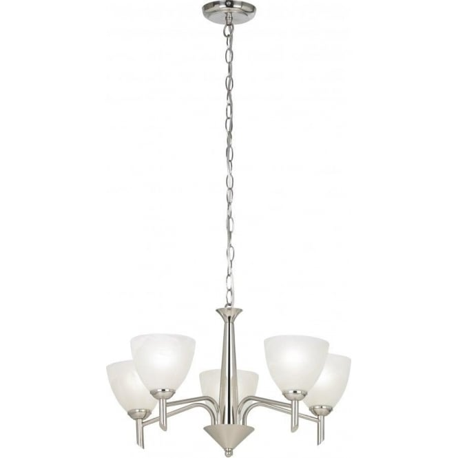 Endon NEESON-5SN Neeson 5 Light Ceiling Light Satin Nickel
