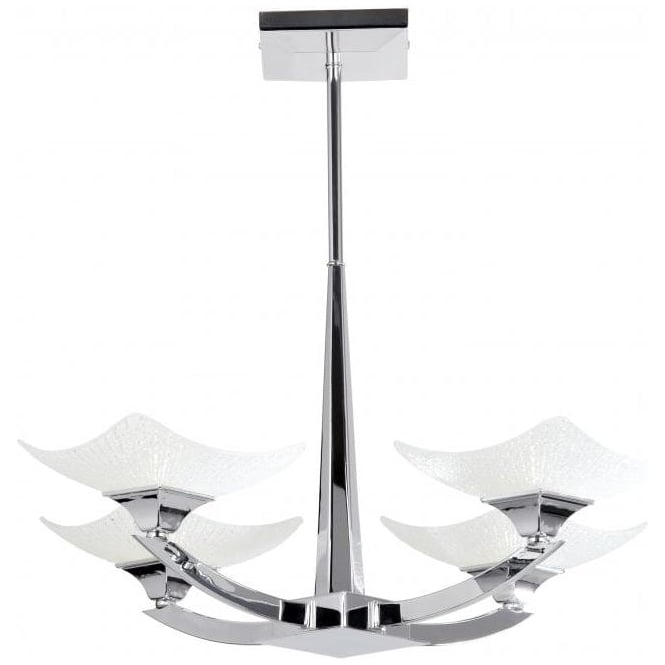 Endon AYRES-4CH Ayres 4 Light Ceiling Light Polished Chrome