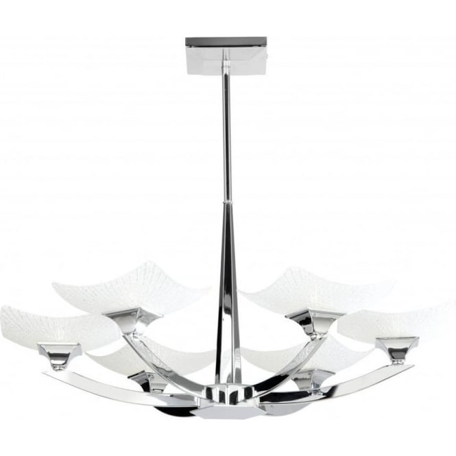 Endon AYRES-6CH Ayres 6 Light Ceiling Light Polished Chrome
