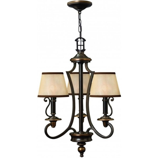 Elstead Hinkley HK/PLYMOUTH3 Plymouth 3 Light Ceiling Light Olde Bronze