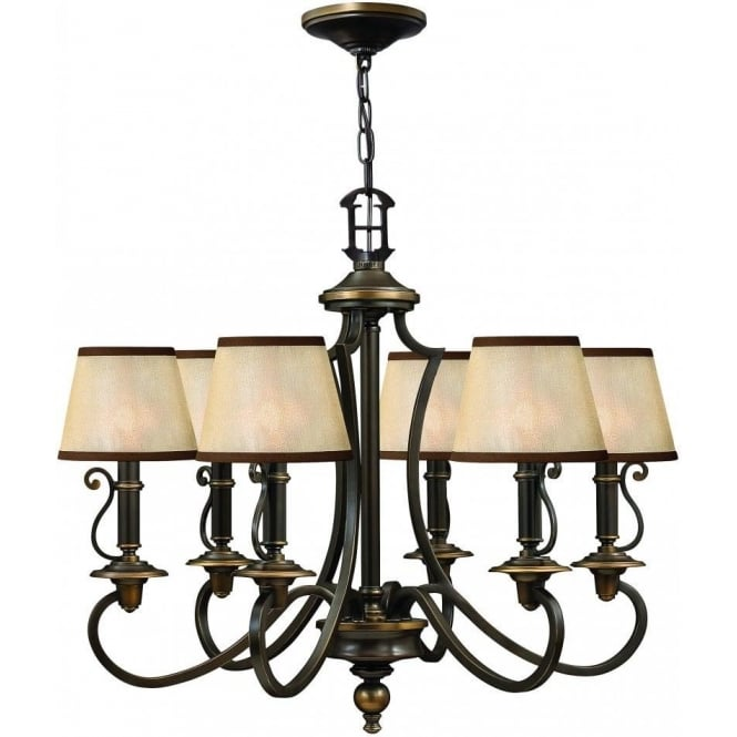 Elstead Hinkley HK/PLYMOUTH6 Plymouth 6 Light Ceiling Light Olde Bronze
