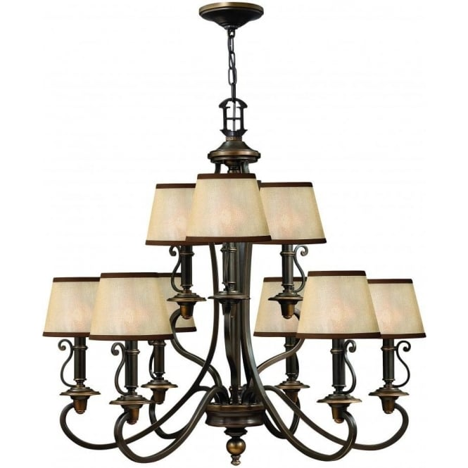 Elstead Hinkley HK/PLYMOUTH9 Plymouth 9 Light Ceiling Light Olde Bronze