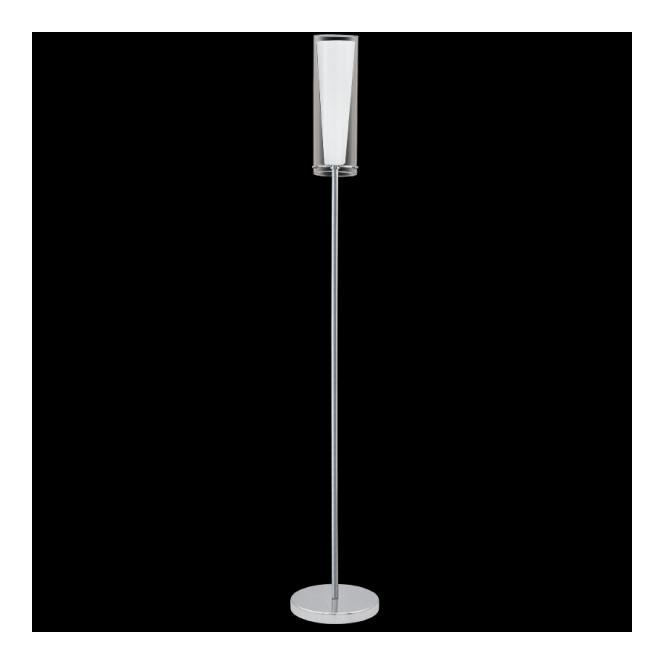 Eglo 89836 Pinto 1 Light Floor Lamp Polished Chrome