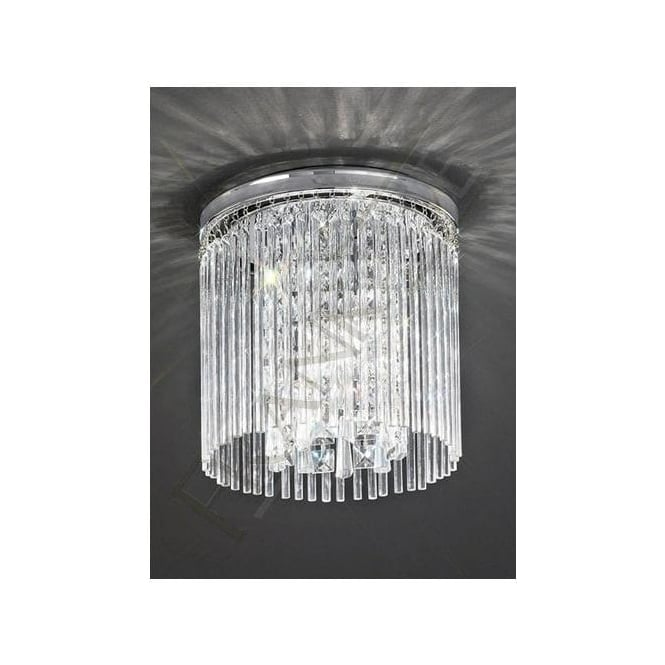 Franklite CF5723 Charisma 3 Light Crystal Ceiling Light Polished Chrome