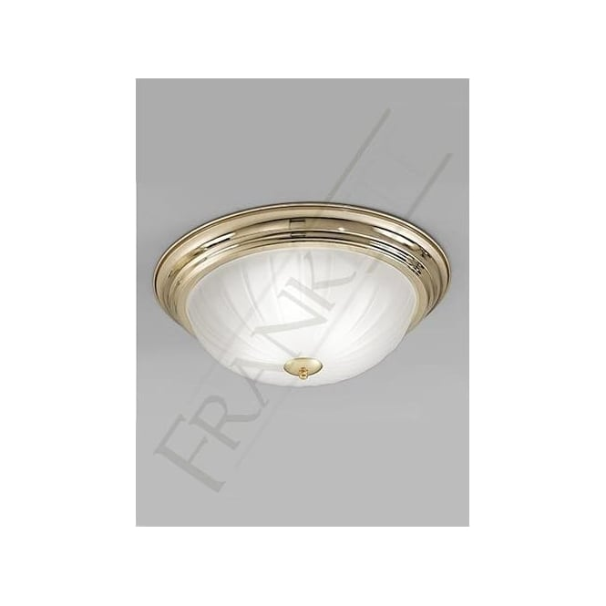 Franklite CF5640 3 Light Flush Ceiling Light Polished Brass