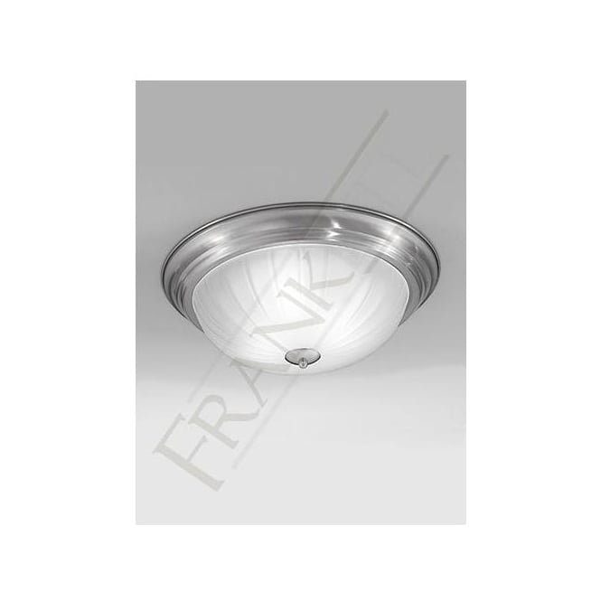 Franklite CF5642 3 Light Flush Ceiling Light Satin Nickel