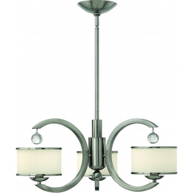 Elstead Hinkley HK/MONACO3 Monaco 3 Light Ceiling Light Brushed Nickel