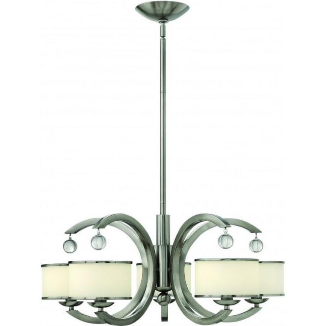 Elstead Hinkley HK/MONACO5 Monaco 5 Light Ceiling Light Brushed Nickel