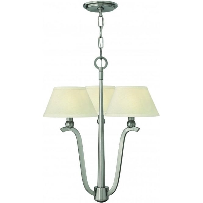 Elstead Hinkley HK/WHITNEY3 Whitney 3 Light Ceiling Light Brushed Nickel