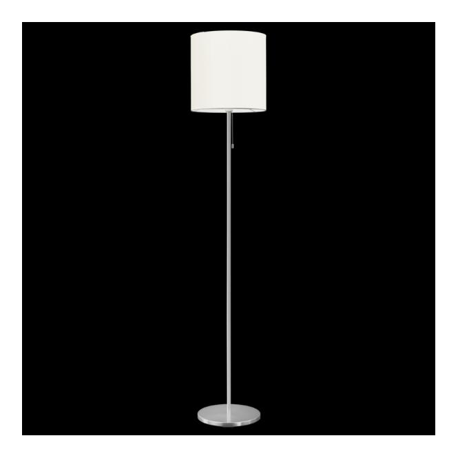 Eglo 82813 Sendo 1 Light Switched Floor Lamp Brushed Aluminium