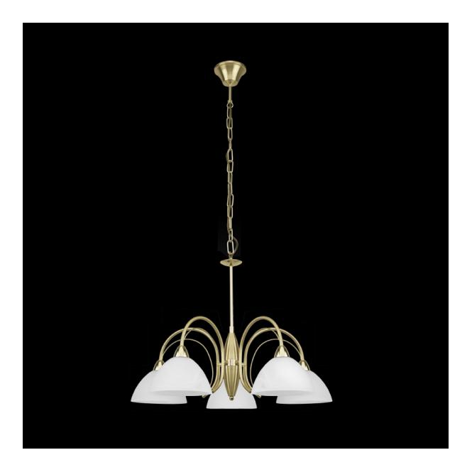 Eglo 89827 Milea 5 Light Ceiling Pendant Satin Brass