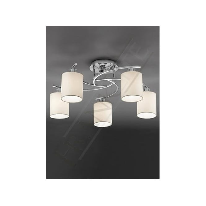 Franklite FL2080/5 Vivace 5 Light Ceiling Light Polished Chrome