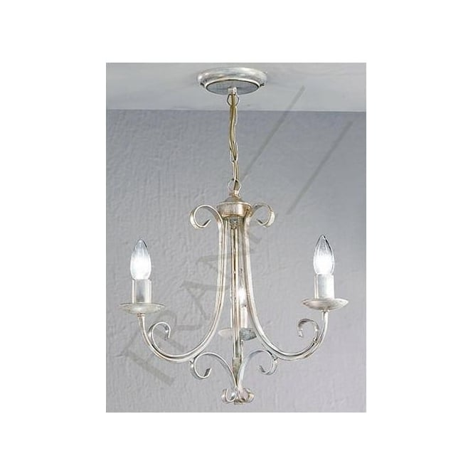 Franklite PE7613 Babylon 3 Light Ceiling Light White Brushed Gold