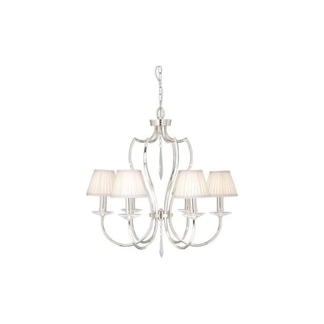 Elstead PM6/PN Pimlico 6 Light Ceiling Light Polished Nickel