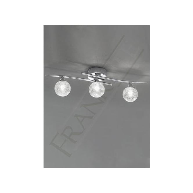 Franklite FL2297/3 Shardice 3 Light Ceiling Light Polished Chrome