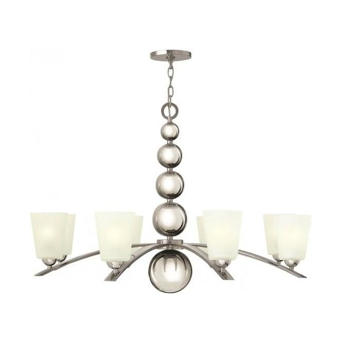 Elstead Hinkley HK/ZELDA8-PN Zelda 8 Light Ceiling Light Polished Nickel