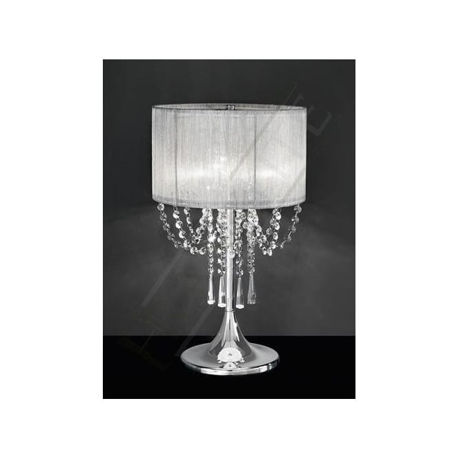 TL970 Empress 3 Light Crystal Table Lamp Polished Chrome