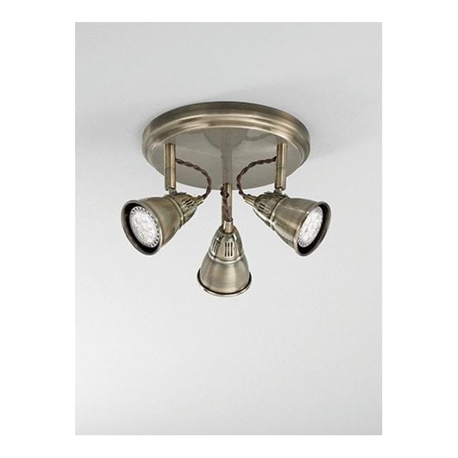 Franklite SPOT8953 Rustica 3 Light LED Ceiling Spotlight Bronze