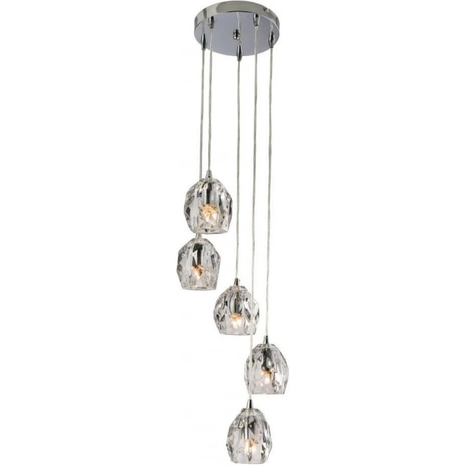 Excellent Endon 61193 Poitier 5 Light Ceiling Pendant Polished Chrome WB28
