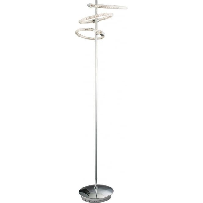 Endon 60193 Nolte LED Floor Lamp Polished Chrome